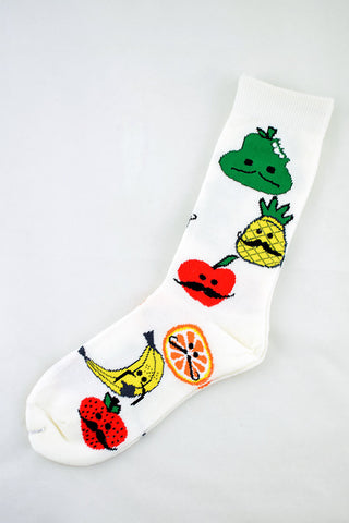 NEW Moustache Fruit Socks