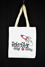 Load image into Gallery viewer, NEW RetroStar White Tote Bag