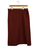 Load image into Gallery viewer, 1960's Koret Brand Maroon A- Line Skirt