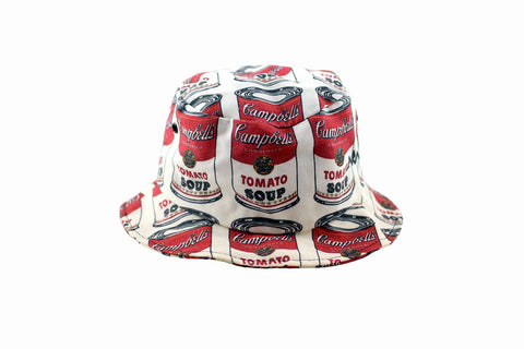 NEW Campbell's Tomato Soup Print Bucket Hat