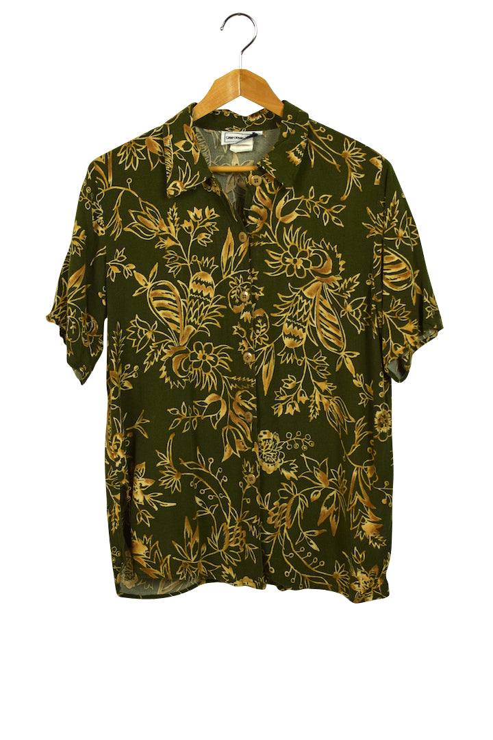 California Crush Brand Hawaiian Print Shirt