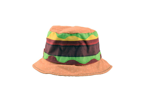 NEW Hamburger Print Bucket Hat
