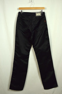 Rifle Brand 100% Polyester Shiny Black Jeans