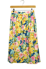 Load image into Gallery viewer, Bright Floral Reworked Skirt