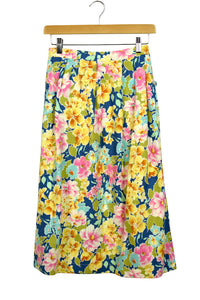 Bright Floral Reworked Skirt