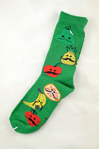NEW Green Moustache Fruit Socks