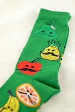 Load image into Gallery viewer, NEW Green Moustache Fruit Socks