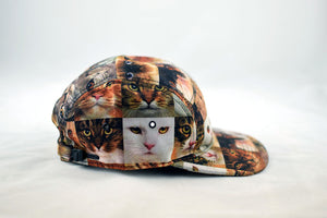 NEW Cat Face Print Cap