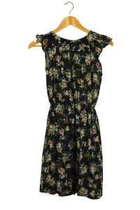 Reworked Dainty Floral Print Vintage Dress