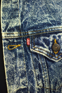 Levi's Brand Acid Wash Denim Jacket