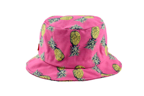 NEW Pink Pineapple Print Bucket Hat