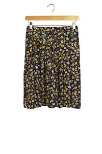 Reworked Floral Print Skirt