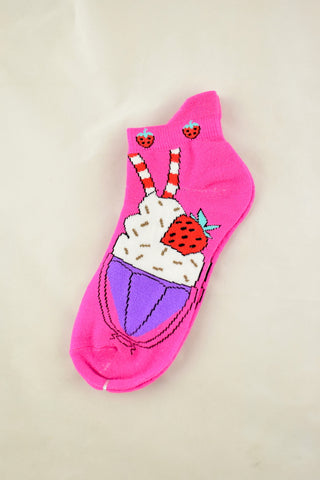 NEW Ice-Cream Sundae Anklet Socks