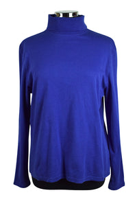 Basic Editions Brand Blue Turtleneck