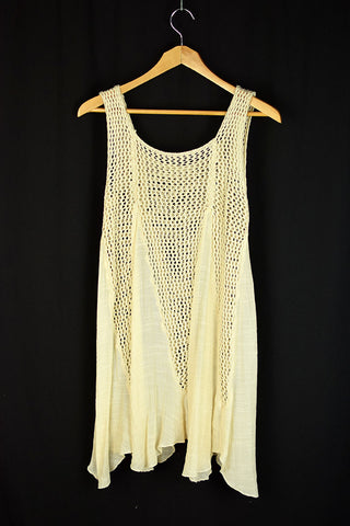 NEW Boho Crochet Lace Slip On Swing Dress