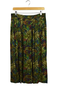 Sag Harbor Brand Tropical Leaves Print Skirt