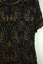 Load image into Gallery viewer, 80s Floral Paisley Sequin Dress