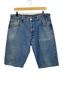 Altered 501 Levis Blue Jean Shorts