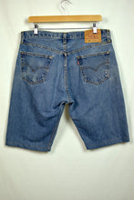 Load image into Gallery viewer, Altered 501 Levis Blue Jean Shorts