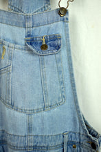 Load image into Gallery viewer, Lei Brand Faded Blue Short Denim Overalls