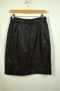 Vintage Black High Waisted Pencil Skirt