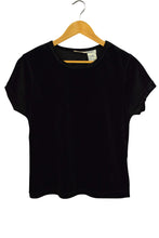 Load image into Gallery viewer, Faded Glory Brand Black Crew Neck Velour Top