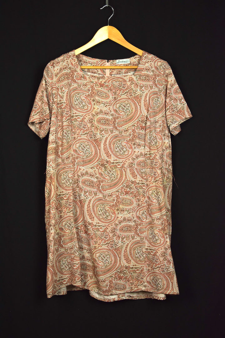 Avelina Brand Paisley Print Dress