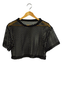 NEW Mesh Crop Top Black