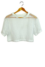 Load image into Gallery viewer, NEW Mesh Crop Top White