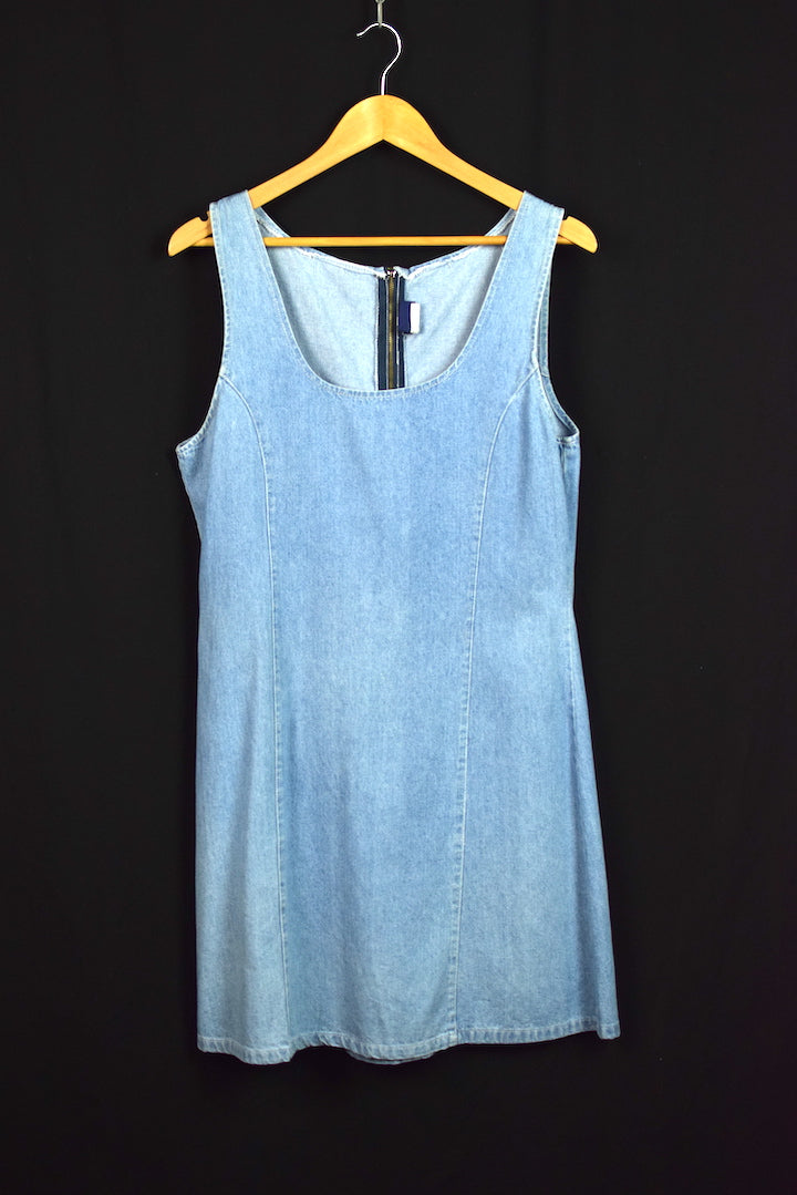LA Blues Brand Denim Pinafore Dress