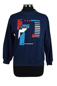 90s Childrens Nike Brand Abstract Print Sweatshirt