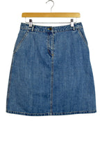 Load image into Gallery viewer, LL Bean Brand Blue Denim Skirt