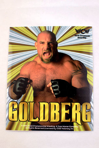 Deadstock 1998 WCW rectangular Goldberg Sticker