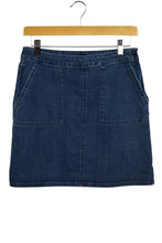 Load image into Gallery viewer, Prana Brand Short Dark Blue Denim Skirt