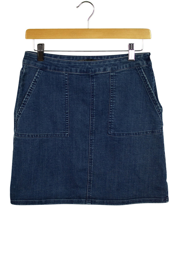 Prana Brand Short Dark Blue Denim Skirt