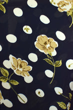 Load image into Gallery viewer, Reworked Vintage Polka Dot Flower Print Blouse