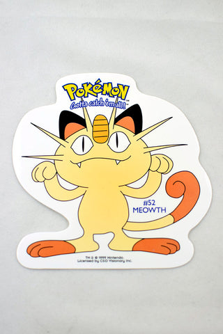 Deadstock 1999 Meowth Pokemon Sticker