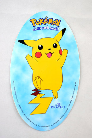 Deadstock 1995-98 Oval Shaped Pikachu Sticker