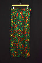 Load image into Gallery viewer, 60s Paisley Floral Maxi Skirt