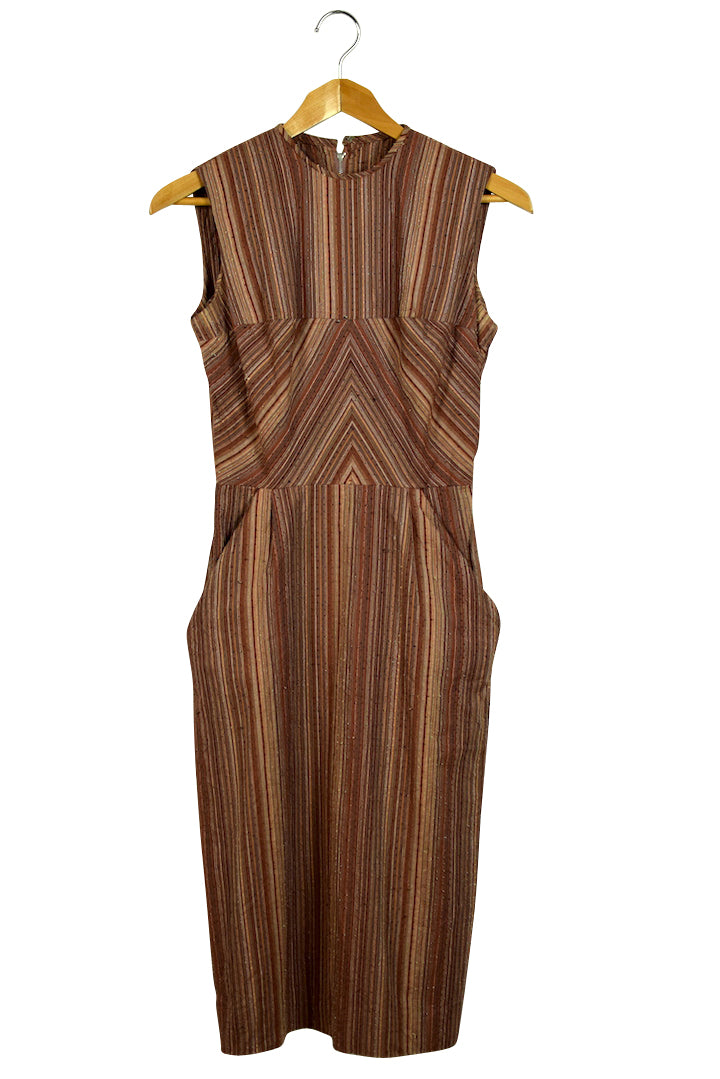 1960's Sue Brett Junior Design Striped Dress