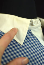 Load image into Gallery viewer, Blue and White Gingham Check Shirt