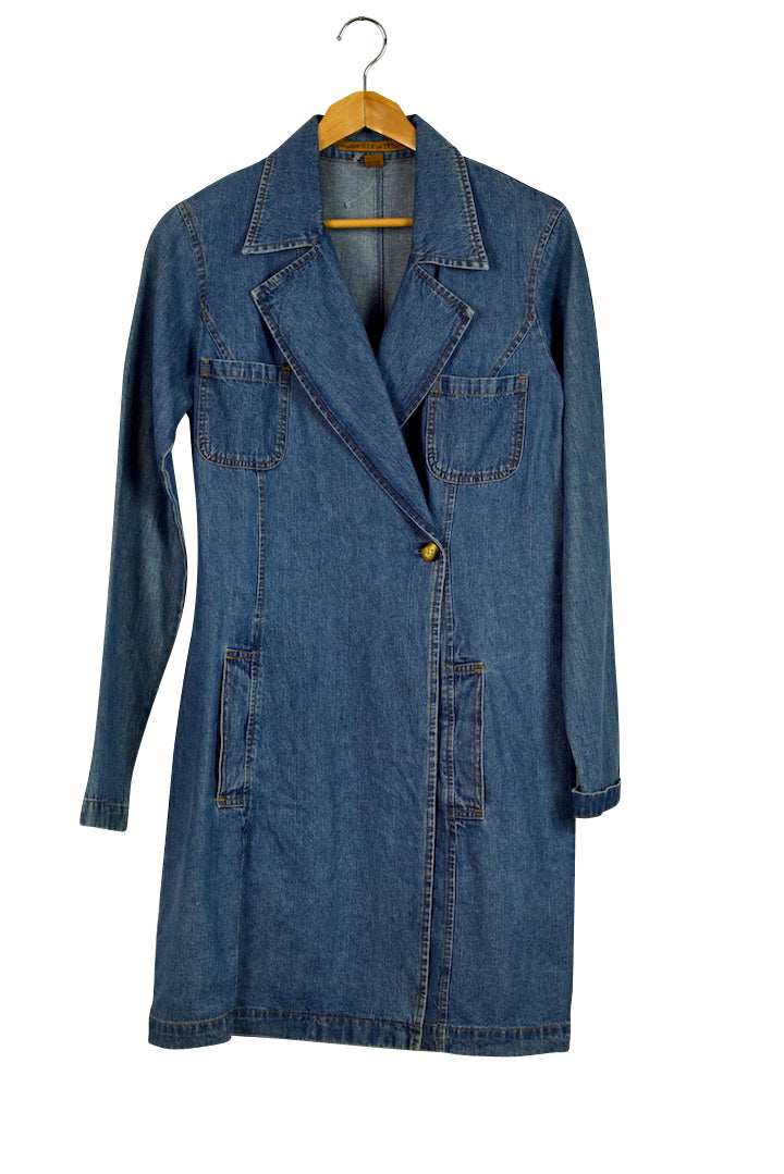 Anne Klein Brand Crossover Denim Dress