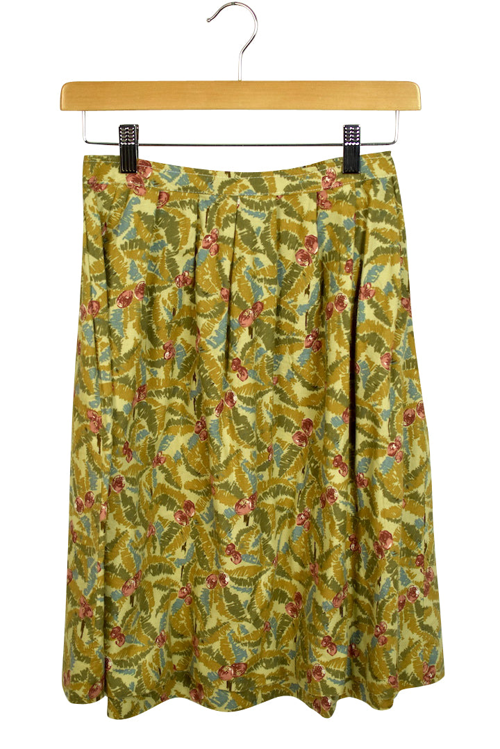 Reworked Vintage Palm Print Skirt
