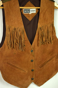 70's Tan Fringed Suede Vest