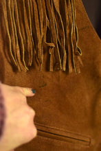 Load image into Gallery viewer, 70's Tan Fringed Suede Vest
