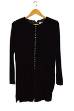 Load image into Gallery viewer, JBS Brand Black Velour Blouse