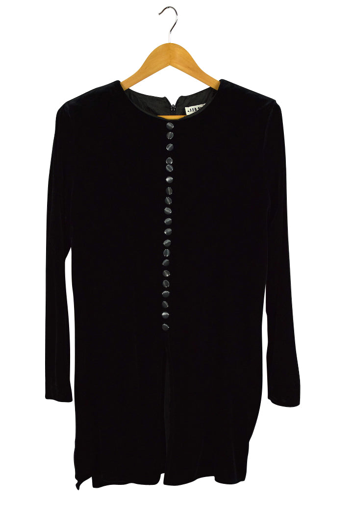 JBS Brand Black Velour Blouse