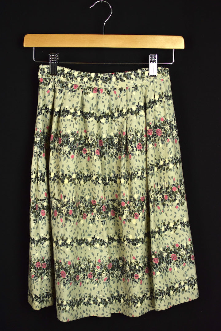 Reworked Floral Skirt