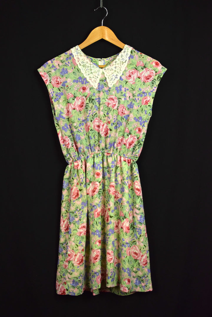 Reworked Traditional Rose Print Dress