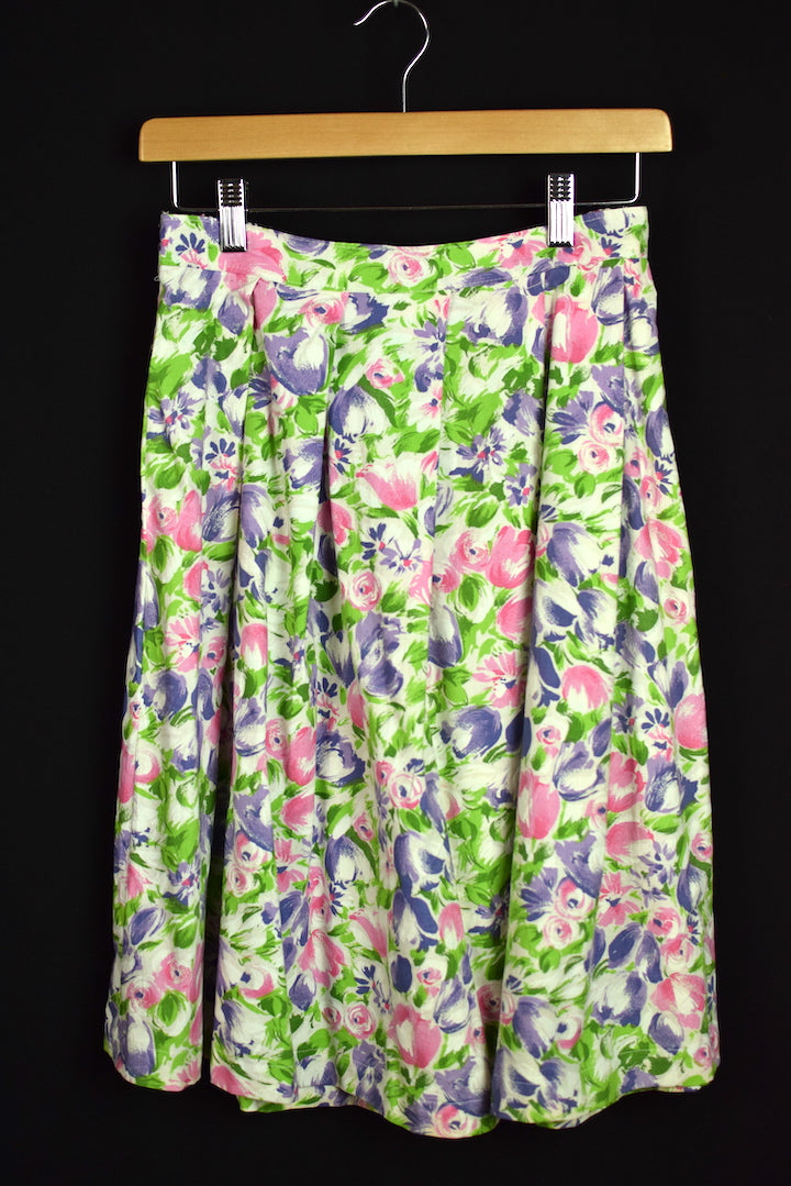 Reworked Pastel Floral Design Skirt